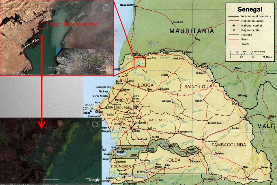 Map of Tocc-Tocc Community Reserve